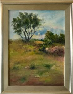 """Serene Highland,"" Oil on Canvas, 18"" x 24"" Framed, $1080Original Oil Painting by Catherine Stephens"