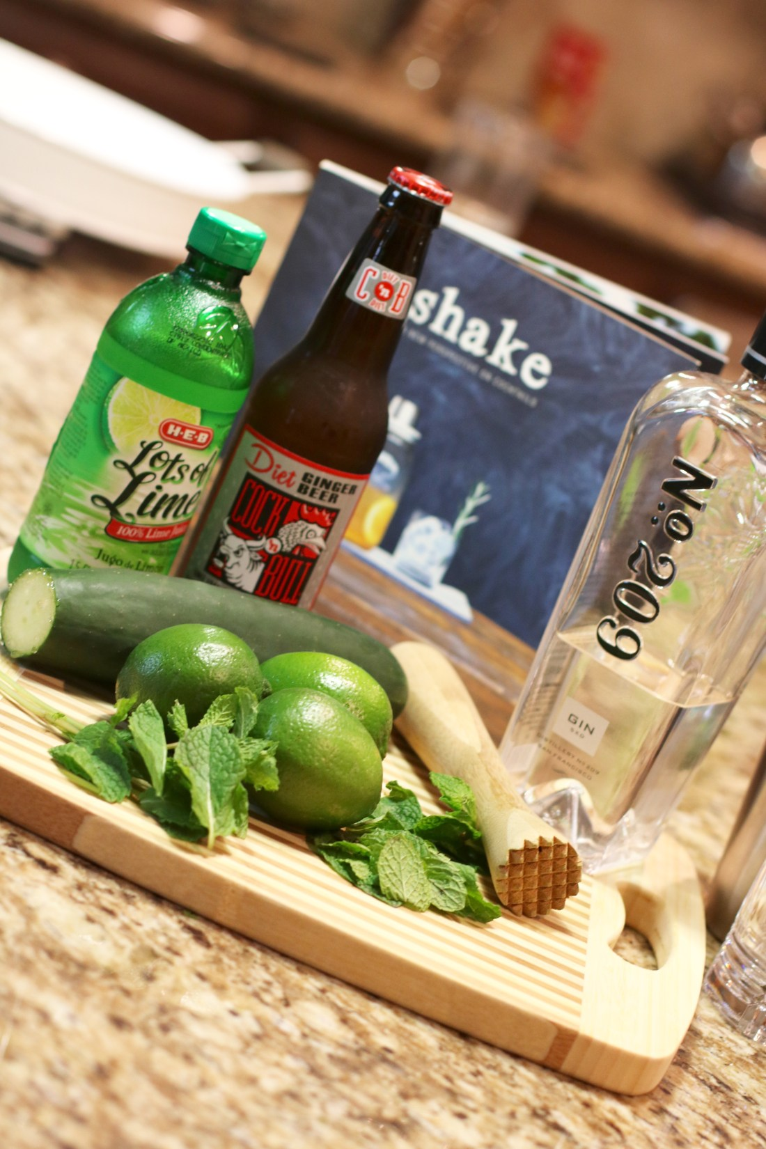 The Cucumber Rickey Cocktail - #Gin #Cocktail #summer #summerdrink #gindrink #mint