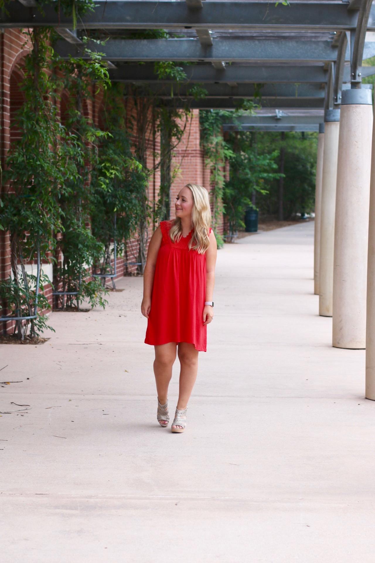 Red Summer Dress #sundress #reddress #theimpeccablepig