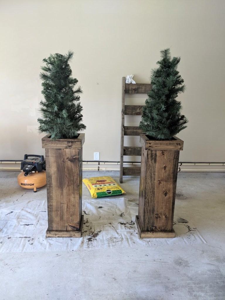 Christmas Planters Diy.Diy Christmas Planters