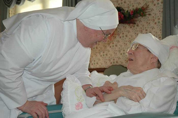 Image result for nuns taking care of elderly meme
