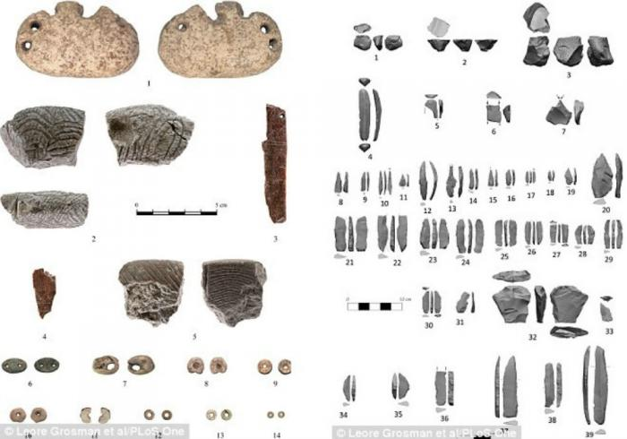 Stone tools and jewelry were also discovered at the site