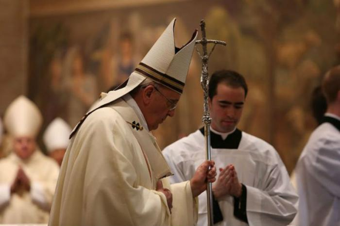 Pope Francis celebrates Mass at the Pontifical North American College.