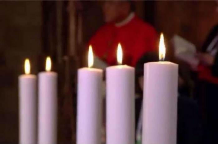 Candles burn at an Oct. 31, 2016 ecumenical prayer service in Lund, Sweden.