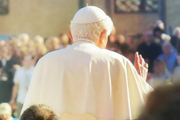 Pope Benedict XVI at the Wednesday general audience.