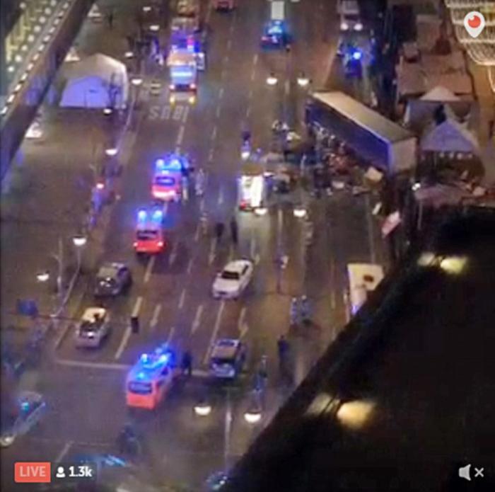 A terrorist drove a big rig truck into a crowded market in Berlin.