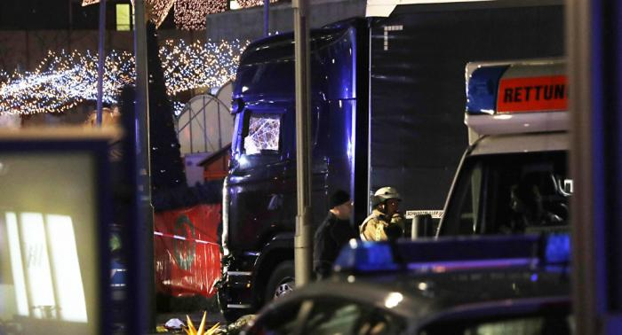 A truck rammed through a Christmas market in Berlin, killing 12 people and injuring nearly 50 more.