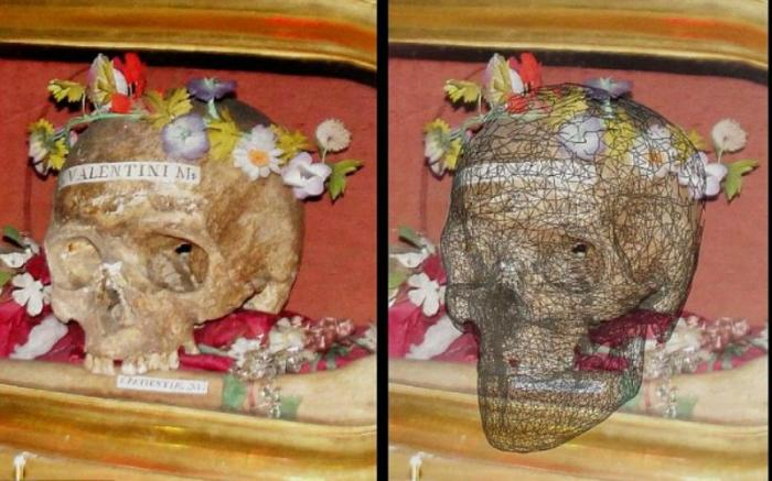 It took 250 pictures of the skull for researchers to build pictures of St. Valentine.