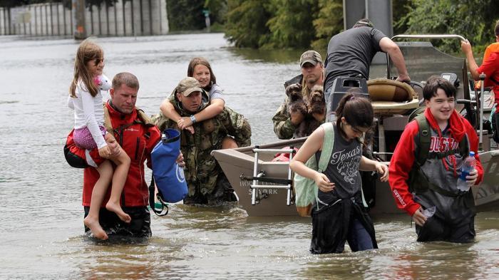 Rescue during Hurricane Harvey