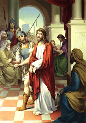 Image of First Station: Jesus is condemned to death