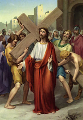Second Station: Jesus carries His cross