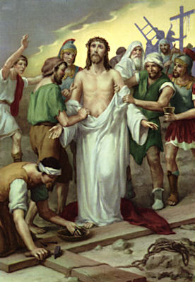 Image of Tenth Station: Jesus clothes are taken away