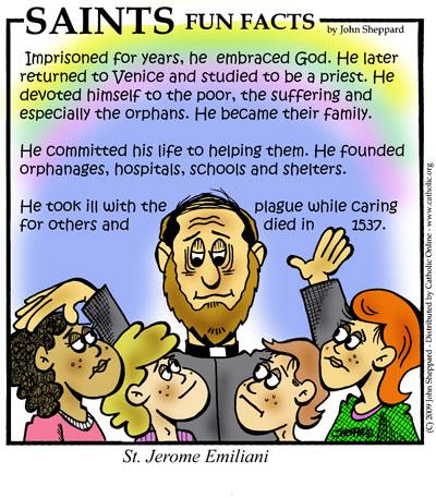 Saints Fun Facts for St. Jerome Emiliani