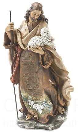 Jesus The Good Shepherd Statue With Psalm 23 1225