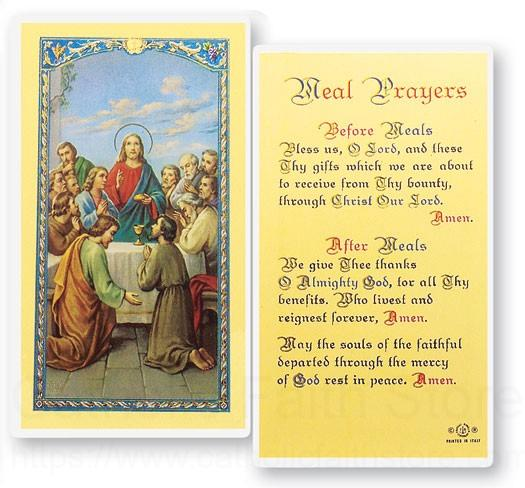 Meal Prayers The Last Supper Laminated Prayer Cards 25 Pack