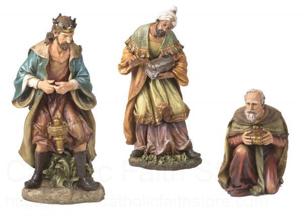 Three Kings Statue Set 39 H