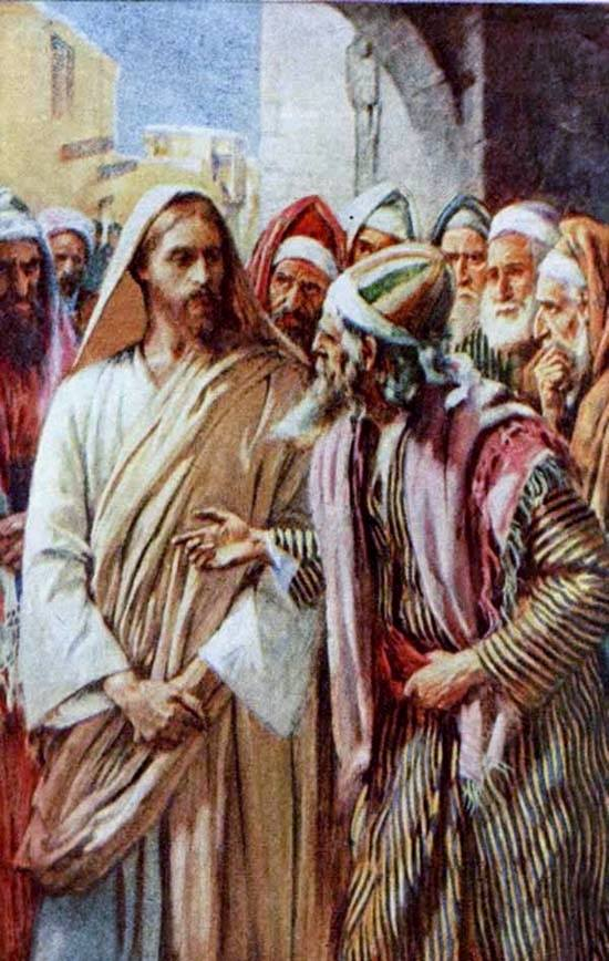 Jesus and the pharesees