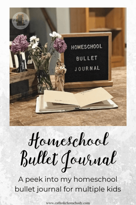 homeschool bullet journal1