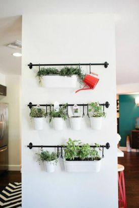 Create an indoor herb garden, even in the smallest of spaces using the IKEA FINTORP kitchen organizer series! #kitcheninspo