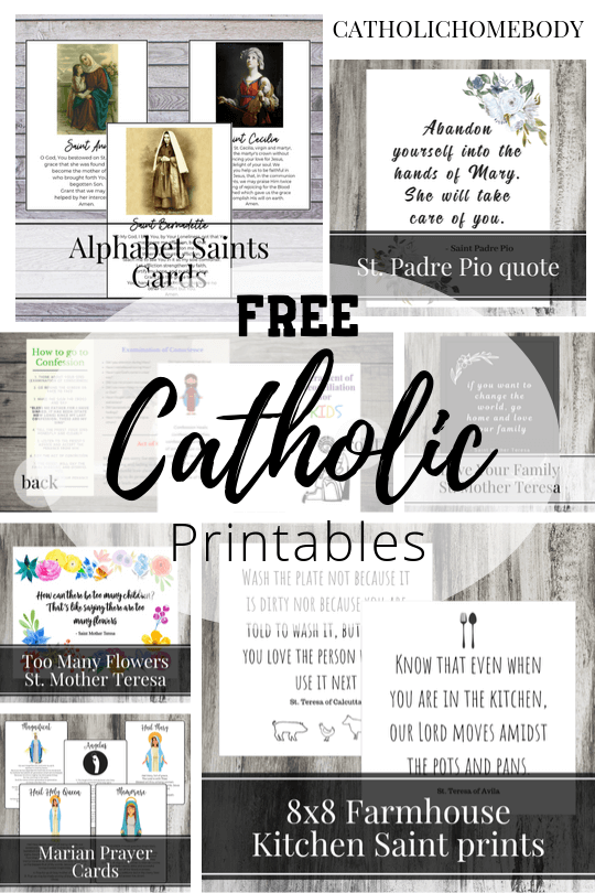 FREE CATHOLIC PRINTABLES