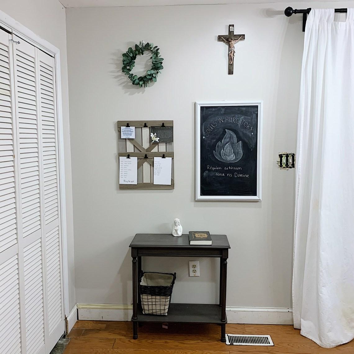 Liturgical table Catholic Decor