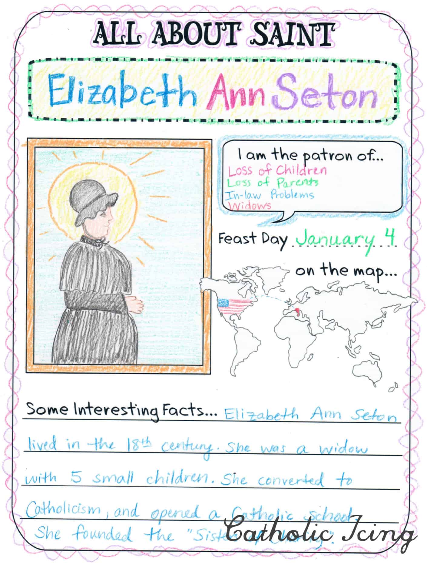 Saint Crafts Printables Activities And More For Catholic