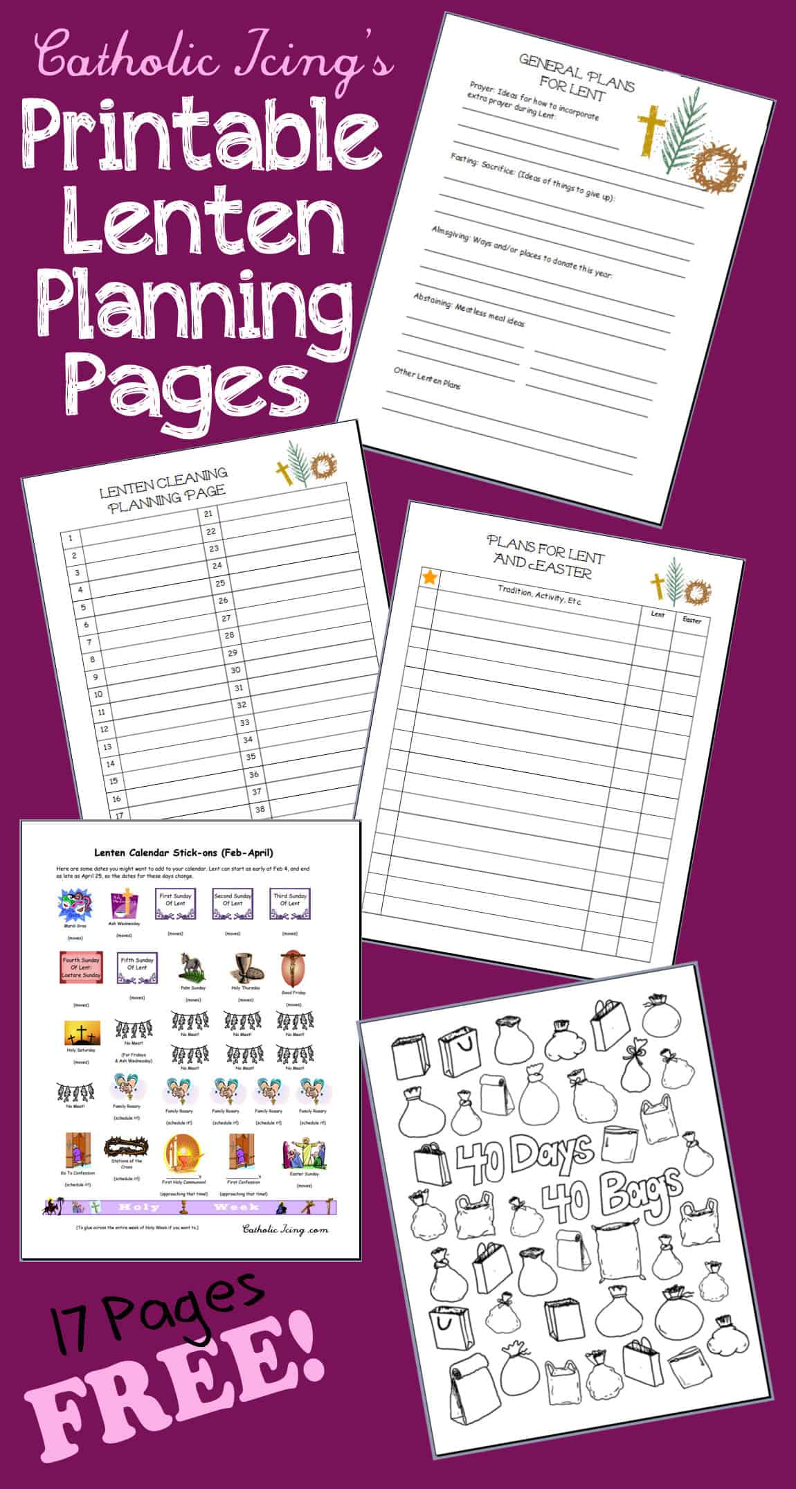 Lenten Planning Pages Free To Print