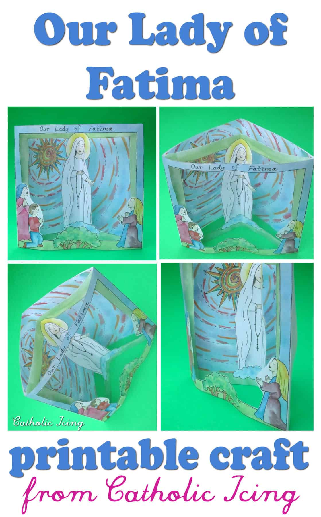 Our Lady Of Fatima Craft For Catholic Kids Of All Ages