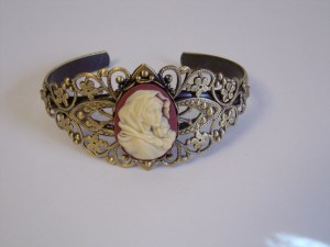 Mary and child cuff bracelet
