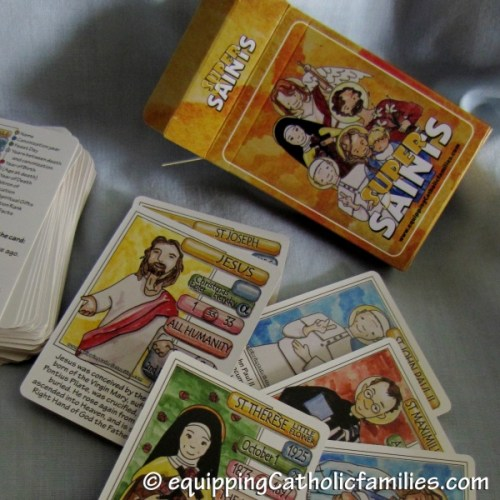 Super Saints Catholic Card Game for Kids