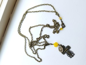 buttercup miraculous medal necklace