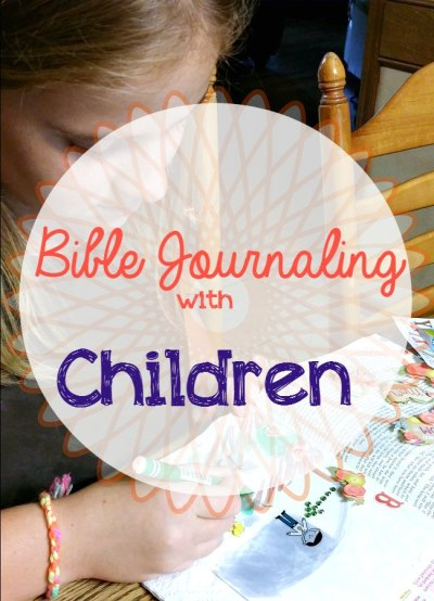 bible journaling with children