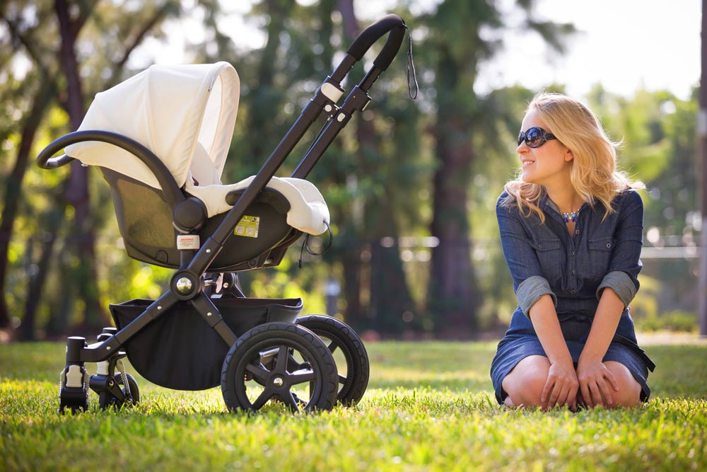 Mom with a stroller