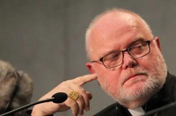 Cardinal Reinhard Marx at the Vatican Press Office on Oct. 17, 2014. Credit: Bohumil Petrik/CNA