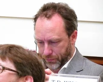 Jimmy Wales at an April 27 session of the Pontifical Academy of Social Sciences
