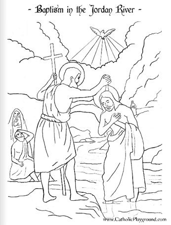 Baptism Of The Lord Coloring Page