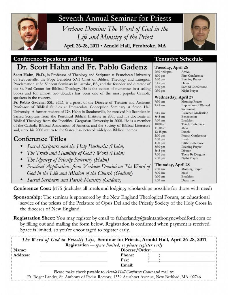 2011 Seminar Poster