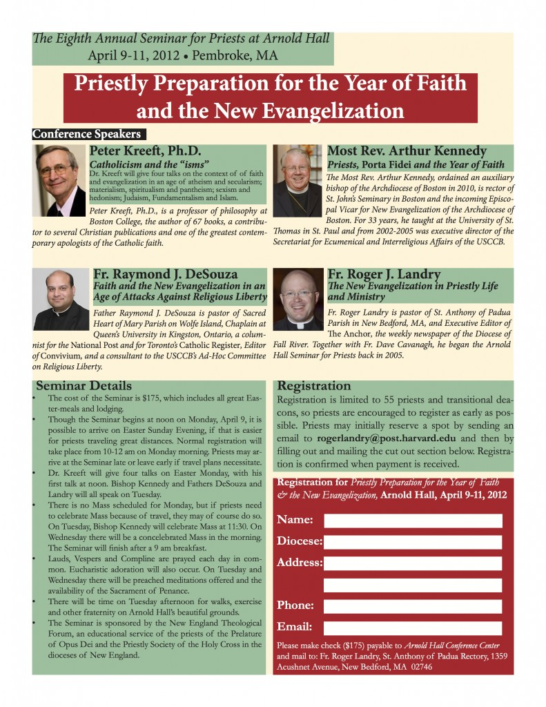 2012 Seminar for Priests Poster