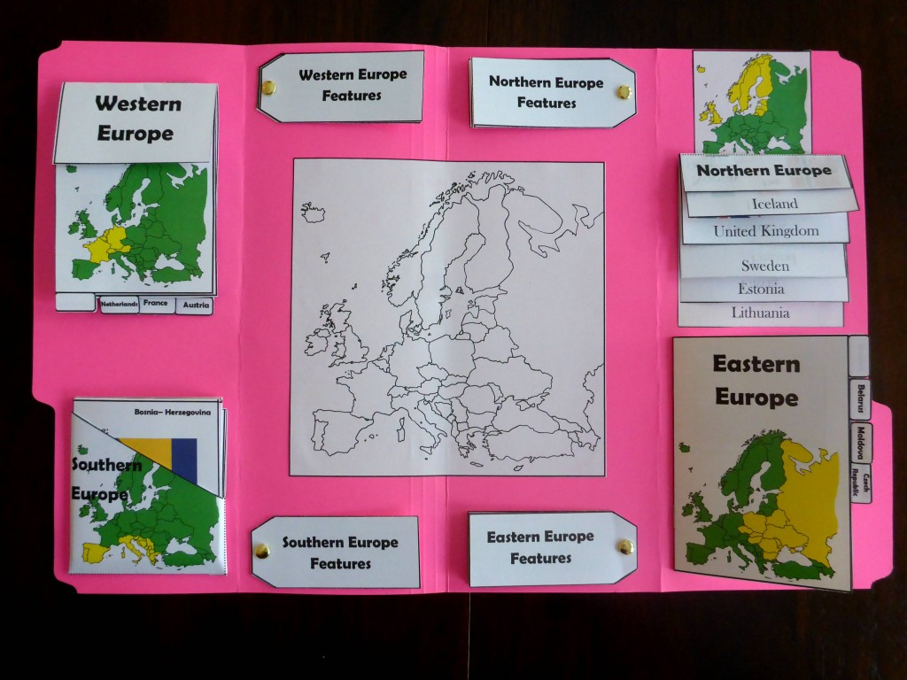 Tour Ii Geography Europe Lapbook