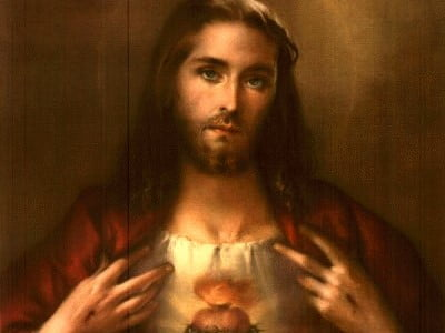 SACRED HEART OF JESUS: BRIEF HISTORY OF THE DEVOTION AND A SHORT PRAYER OF CONSECRATION.