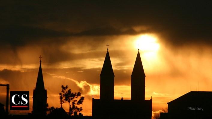 church, bells, towers, steeple
