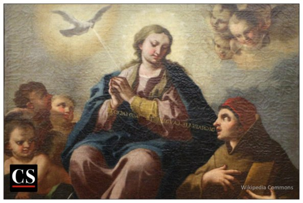 Domenico_guarino,_intercessione_del_beato_duns_scoto_alla_vergine_immacolata,_1700-50_ca