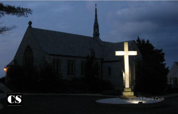 Frank - church at night