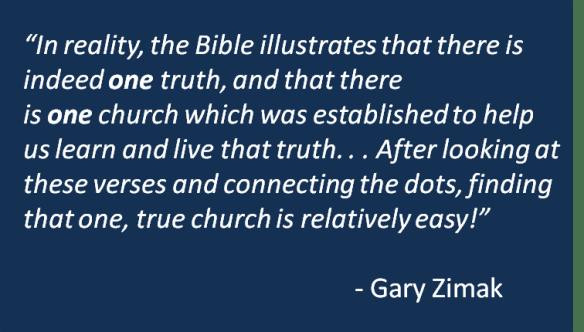 Gary Zimak - One Church