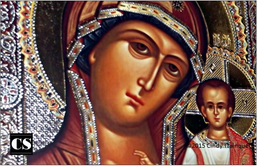 icon, mary, jesus, infant