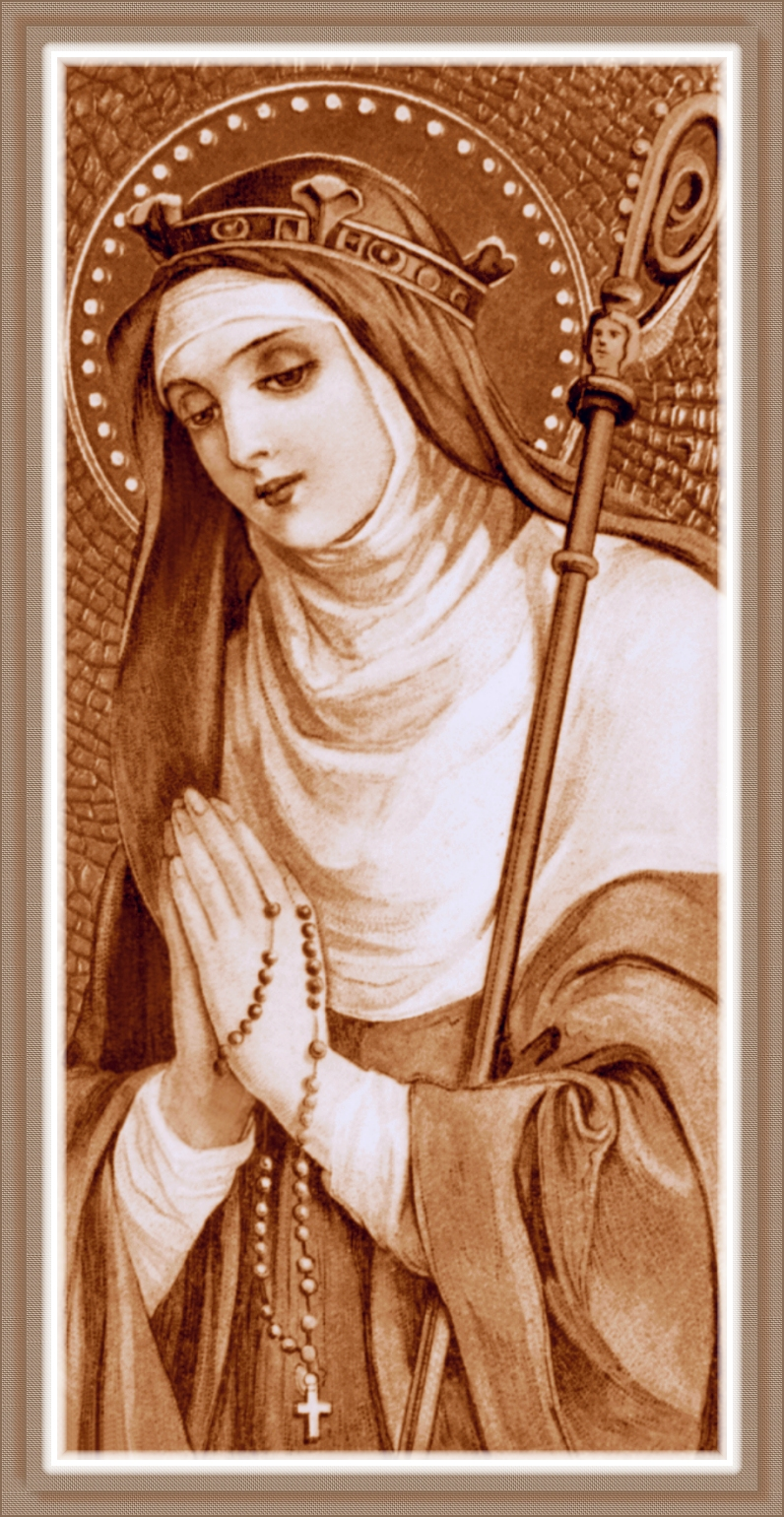 SEPIA HOLY CARD IMAGE WITH WEAVE FRAME