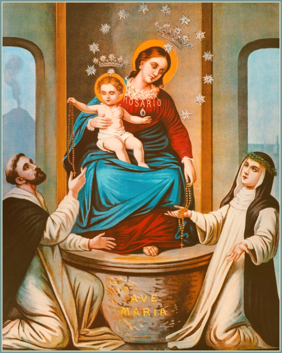 Image result for our lady of the holy rosary