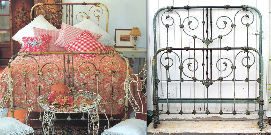 Making An Old Iron Bed Look Old