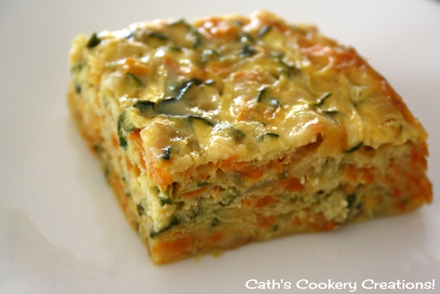 Zucchini Slice from Cath's Cookery Creations   www.cathscookerycreations.com