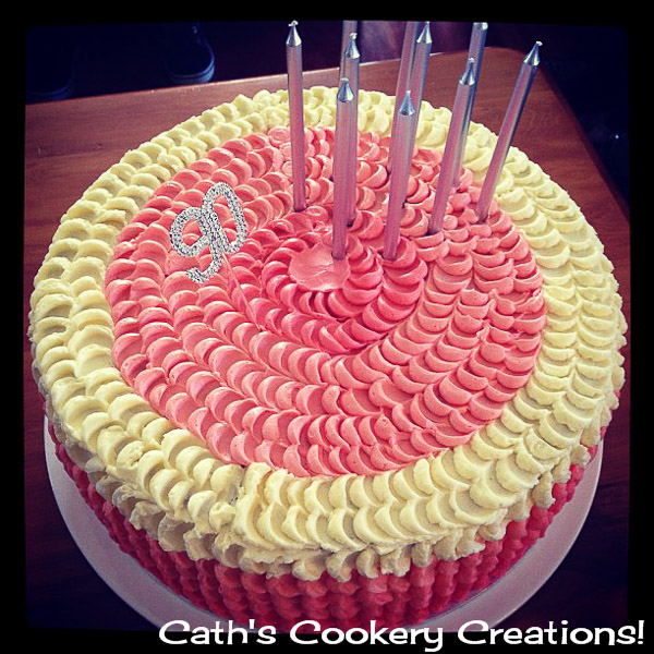 Peach Ombre Petal Cake from Cath's Cookery Creations! @CathsCookery